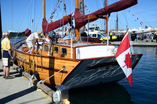 Stern view of Wildwood at the Victoria Classic Boat Festival.